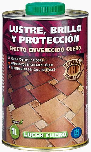 Lustre, brillo y protección. Efecto envejecido cuero